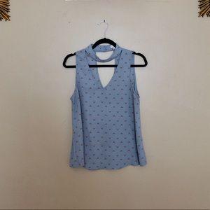 Mine cute baby blue cut out dress tank top